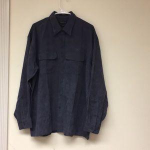 VanHeusen Soft Suede Button Down Size L 16-16 1/2